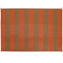 Reversible Patio Mats, Basic Stripe 6' x 9', Terracotta/Brown