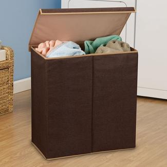 Coffee Linen Double Hamper