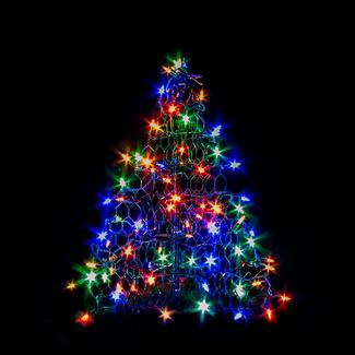 3' Crab Pot Tree, 160 Multi-Color LED Lights