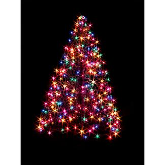 4' Crab Pot Tree, 300 Multi-Color Lights
