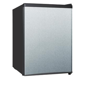 2.4 Cu. Ft. E-Star Compact Refrigerator with Reversible Door and Separate Chiller Compartment in Stainless Steel