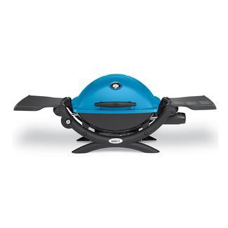 Weber Q 1200 Portable Propane Grill, Blue