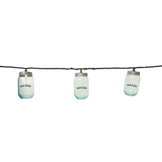 10 Mini Mason Jar Lights, 7'8