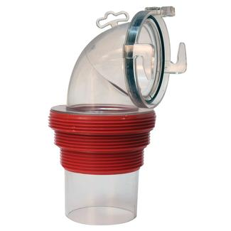EZ Coupler 90° Bayonet Sewer Fitting, Clear