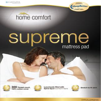 Home Comfort Mattress Pad, RV King