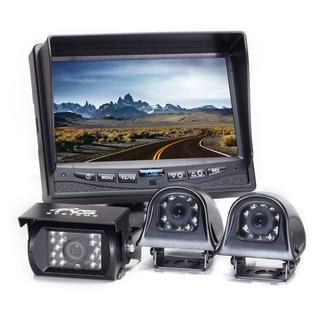 Rear View Camera System - Three Camera Setup with Side Cameras