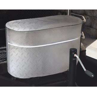 Diamond Plate Silver Propane Tank Covers
