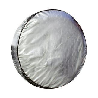 Diamond Plate Silver Spare Tire Cover, 32.25