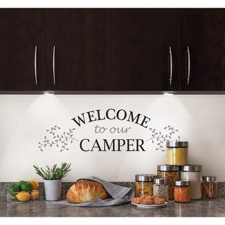 Removable Wall Decor - 'Welcome to Our Camper'