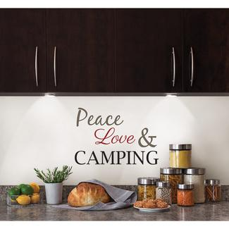 Removable Wall Decor - 'Peace, Love & Camping'