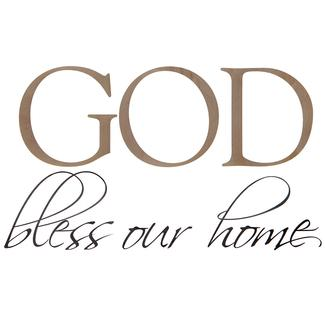 Removable Wall Decor - 'God Bless Our Home'