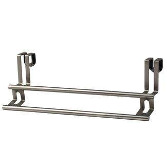 Over-Cabinet Double Towel Bar, Brushed Nickel Finish