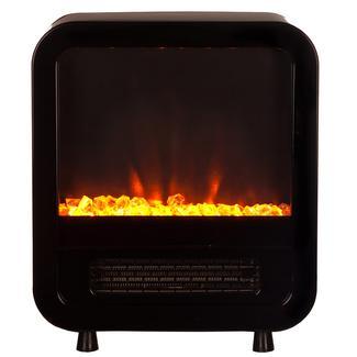 Skyline Electric Fireplace Stove, Black