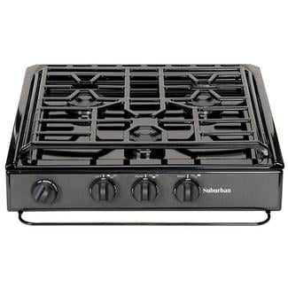 3-Sealed Burners, Slide-In Cooktop