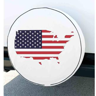 Flag Spare Tire Cover, 31.25