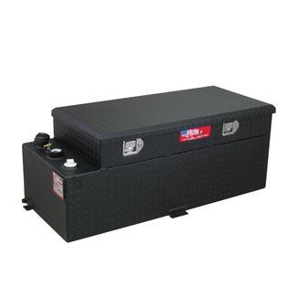 Black Powder Coat Transfer Fuel Tank & Toolbox Combo, 50 Gallon
