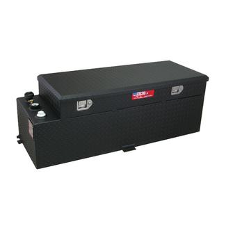 Black Powder Coat Transfer Fuel Tank & Toolbox Combo, 60 Gallon