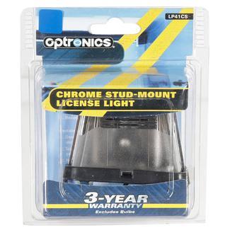 Stud Mount License Plate Lite/Chrome