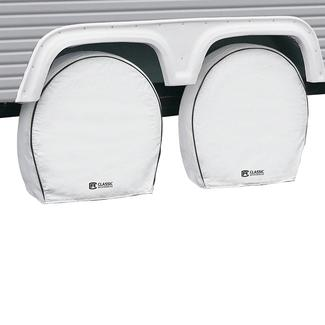 Snow White Overdrive RV Wheel Cover 4-Pack, 19
