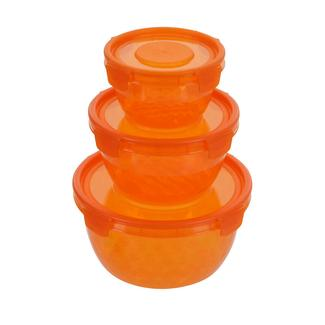 Round Nesting Containers, Orange