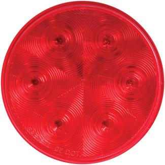 LED 4&quot&#x3b; Round Stop&#x2f&#x3b;Turn&#x2f&#x3b;Tail Light with Grommet and Plug&#x3b&#x3b; Red, Sealed&#x3b&#x3b; 7 Diodes