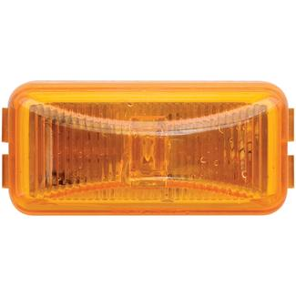 LED Mini Marker/Clearance Light; Base and Mounting Hardware Included; Amber, Sealed; Single Diode