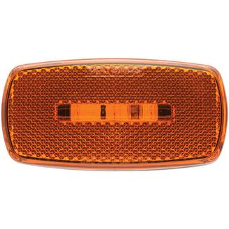 Oval LED Clearance/Marker Light; Replaceable Lens; Fleet Count; Black Base; Amber