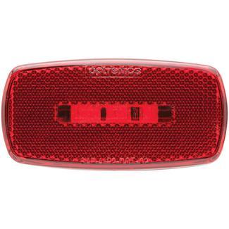 Oval LED Clearance/Marker Light&#x3b; Replaceable Lens&#x3b; Fleet Count&#x3b; Black Base&#x3b; Red