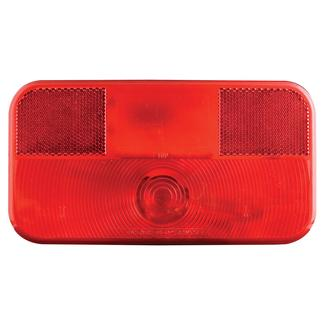 RV Stop/Tail/Turn Tail Light w/o illuminator; White Base, Red