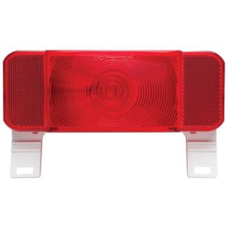 RV Stop/Tail/Turn Tail Light w/ illuminator&#x3b; White Base&#x3b; New Design&#x3b; Red