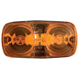 Clearance/Marker Light; amber, dual bulb, black base