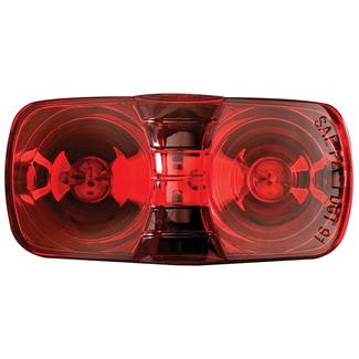 Clearance/Marker Light; red, dual bulb, black base
