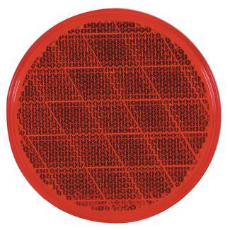 Round Reflector; stick-on, Red