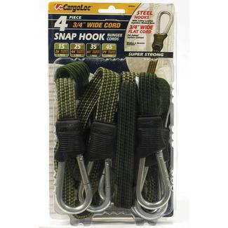 Snap Hook Bungee Cords, 4 pack