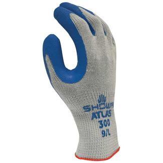 Blue Latex-Dip Gloves, Large