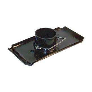 Manual Tongue Jack Foot Pad, 1 3/4'' diameter Jack