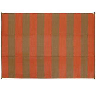 Basic Stripe Design Patio Mat, 9' x 12', Terracotta/Brown