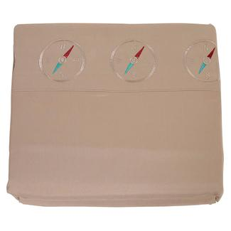 Microfiber Camping Theme Sheets, Taupe with Compass, Full