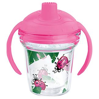 Lady Buggin&#x27&#x3b; 6 oz. Sippy Cup with Pink Lid