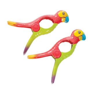 Boca Towel Clips, Set of 2, Parrots