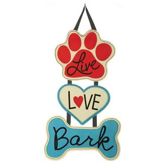 Live Love Bark Felt Door Hanger