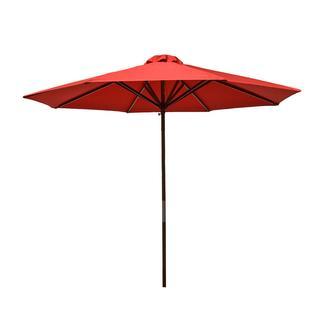 Classic Wood Market Umbrella - Red, 9'