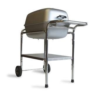 Portable Kitchen Grill and Smoker, Silver