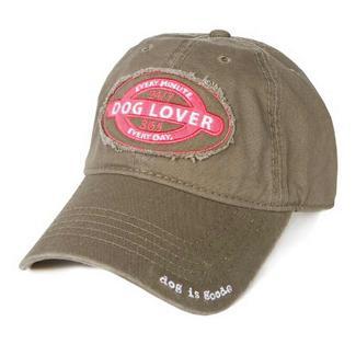 Dog is Good Dog Lover Cap, Olive Green