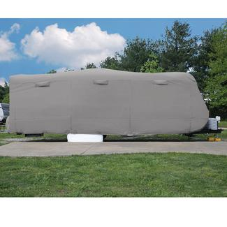 Elements Travel Trailer Premium All Climate RV Cover, 31'7