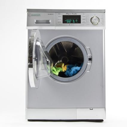 Equator Super Combo Washer and Dryer, Silver - Venting/Ventless Optional