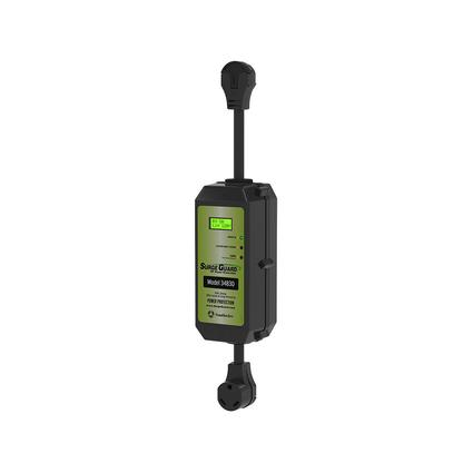 Portable Surge Guard with LCD Display, 30 Amp