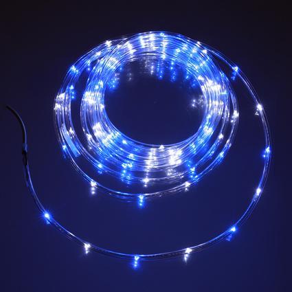 Blue White Mini Rope Light, 16'