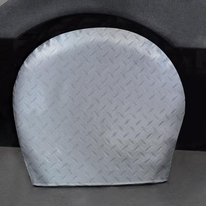 Diamond Plate Silver Tyre Gards, 27