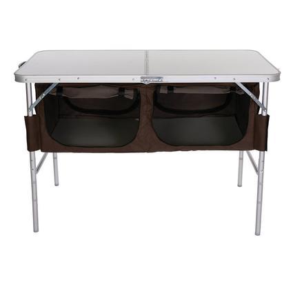 Folding Table with Storage Bins